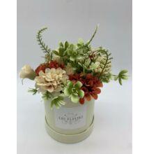 Mini selyemvirág doboz