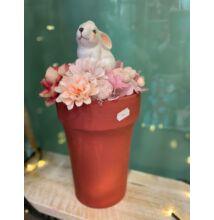 Asztaldísz-rózsaszín nyuszis