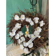 Fehér barackvirágos kopogató