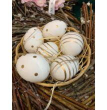 Arany csíkos, pöttyös tojás szett