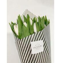 Tulipán 30 szál fehér