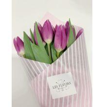 Tulipán 80 szál lila