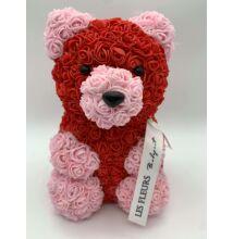 Szivárványos Örökmaci 24 cm/rózsaszín-piros