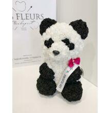 Szivárványos Örökmaci 24 cm/panda