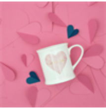 Love You Pastel Pink Heart Mug