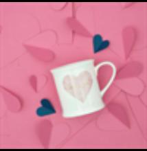 Love You Pastel Pink Heart Mug