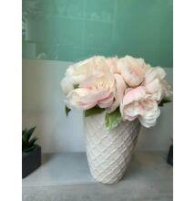 Kerámia váza - selyemvirággal