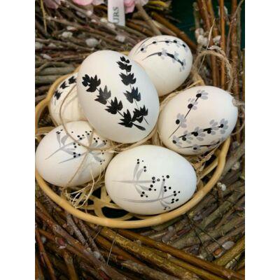 Virágmintás tojás szett 6 db