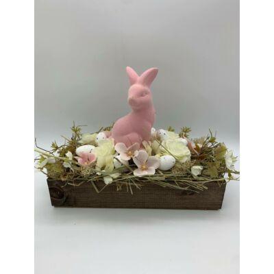 Asztaldísz rózsaszín nyuszis