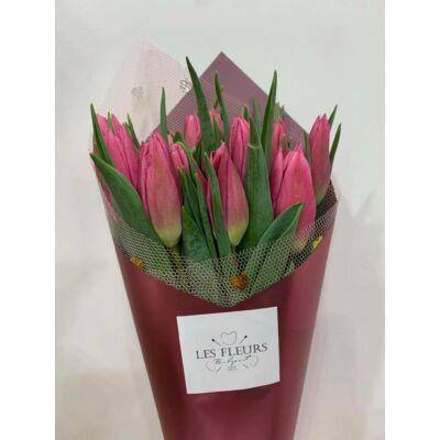 Tulipán 20 szál rózsaszin