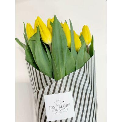 Tulipán 100 szál sárga