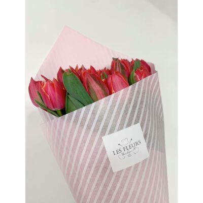 Tulipán 100 szál rózsaszín