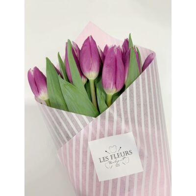 Tulipán 100 szál lila