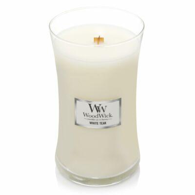 WoodWick nagy üveg White Teak