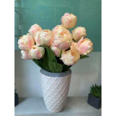 Kerámia váza-tulipán selyemvirággal