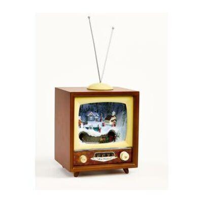Vintage TV karácsonyi havas